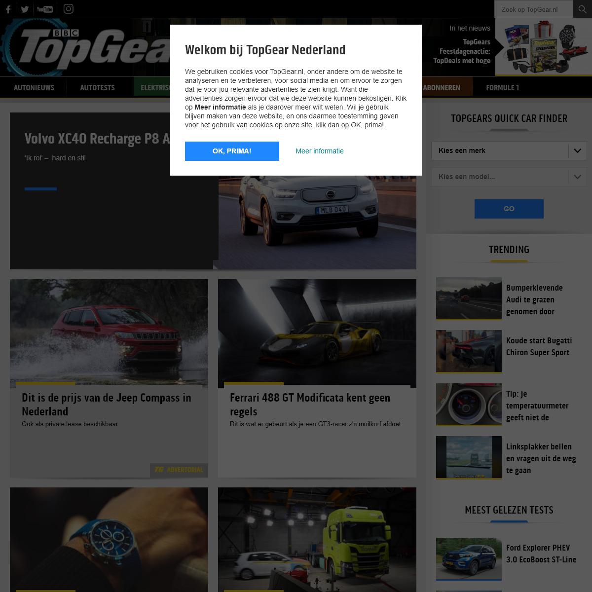 TopGear- autonieuws, autotests, video`s, The Stig en meer
