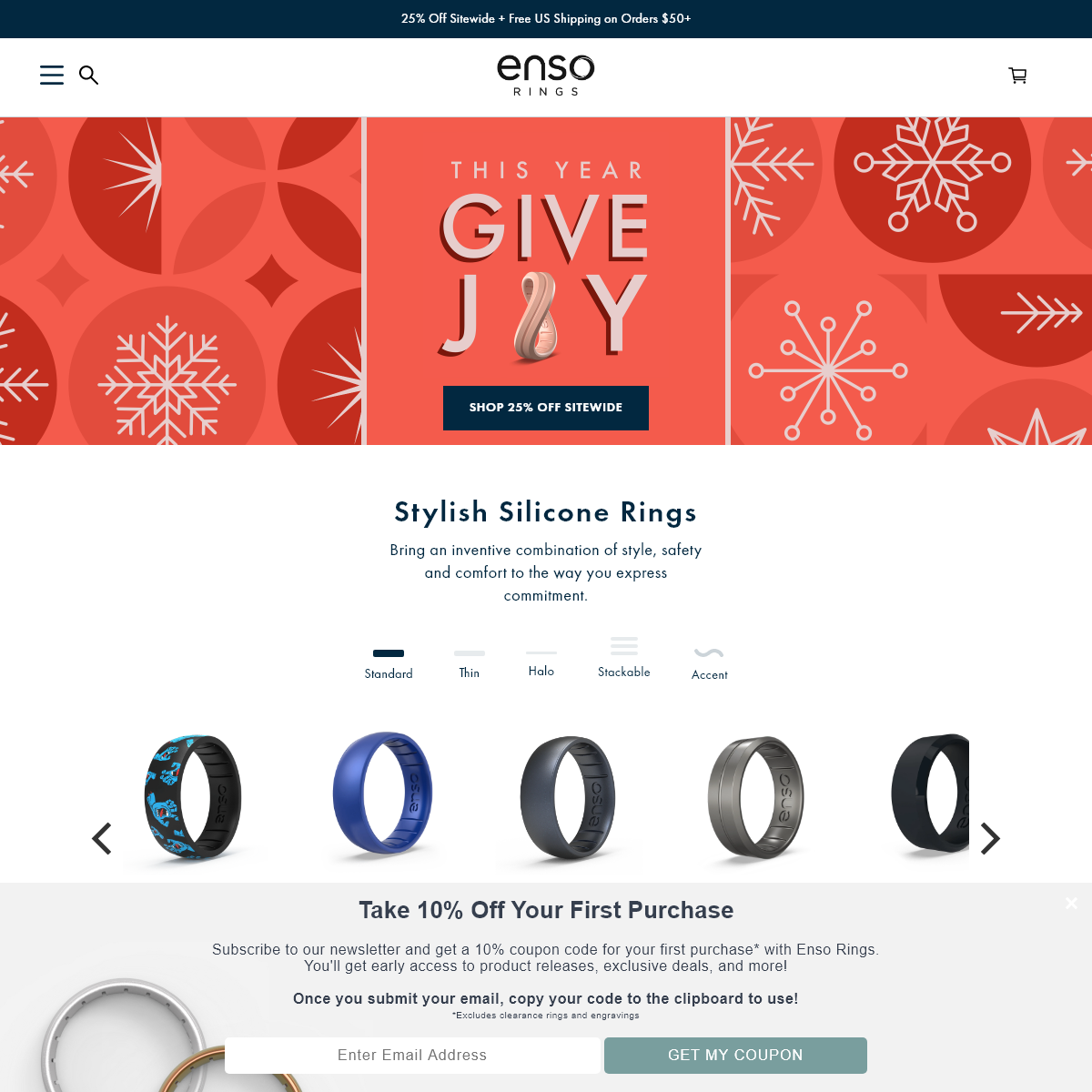Silicone Rings - Silicone Wedding Bands - Unique Wedding Rings - Enso Rings