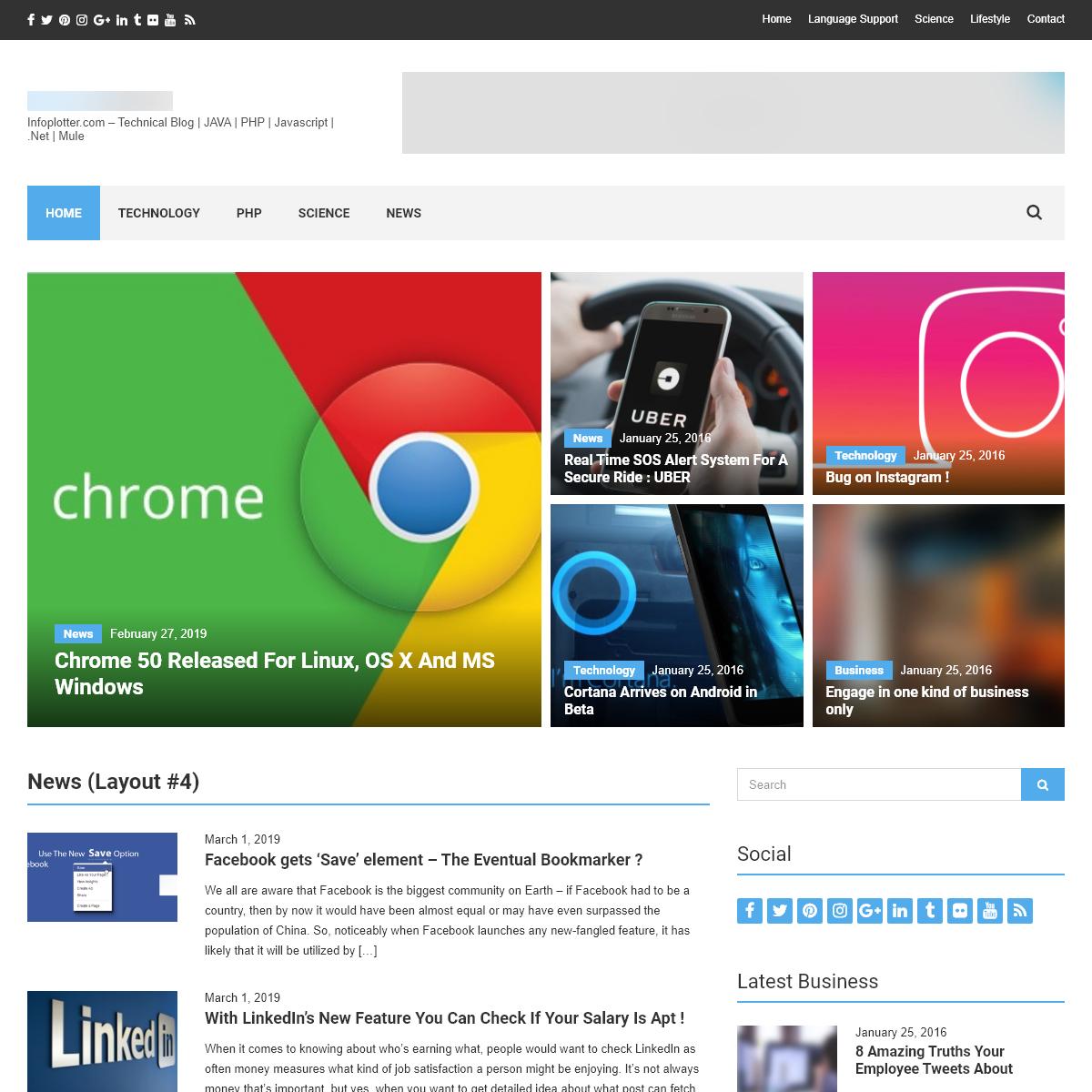 Infoplotter – Infoplotter.com – Technical Blog - JAVA - PHP - Javascript - .Net - Mule