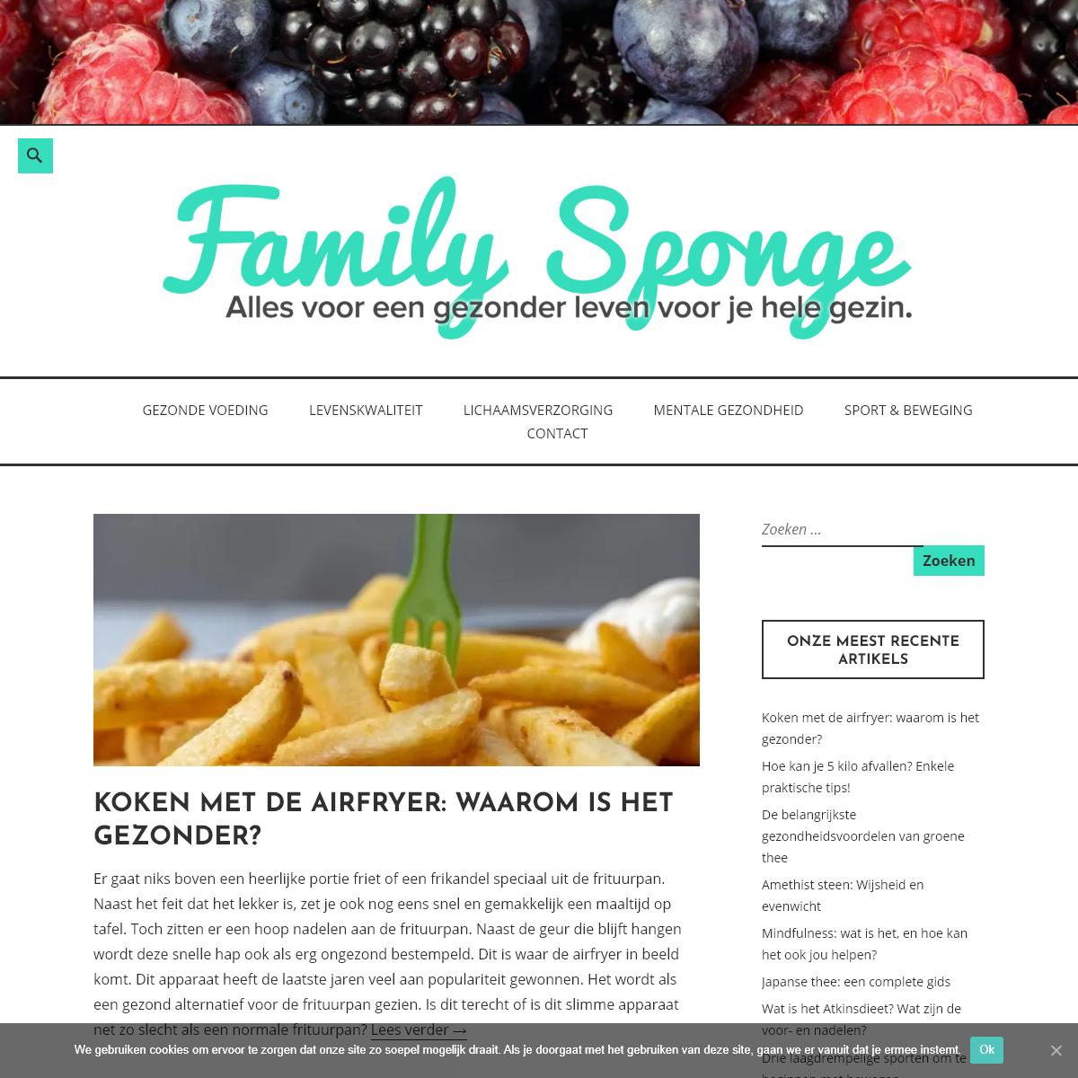 Family Sponge - Alles voor een gezonder leven voor jouw hele gezin!
