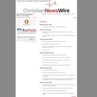 Christian Newswire – Up to the Minute Christian News