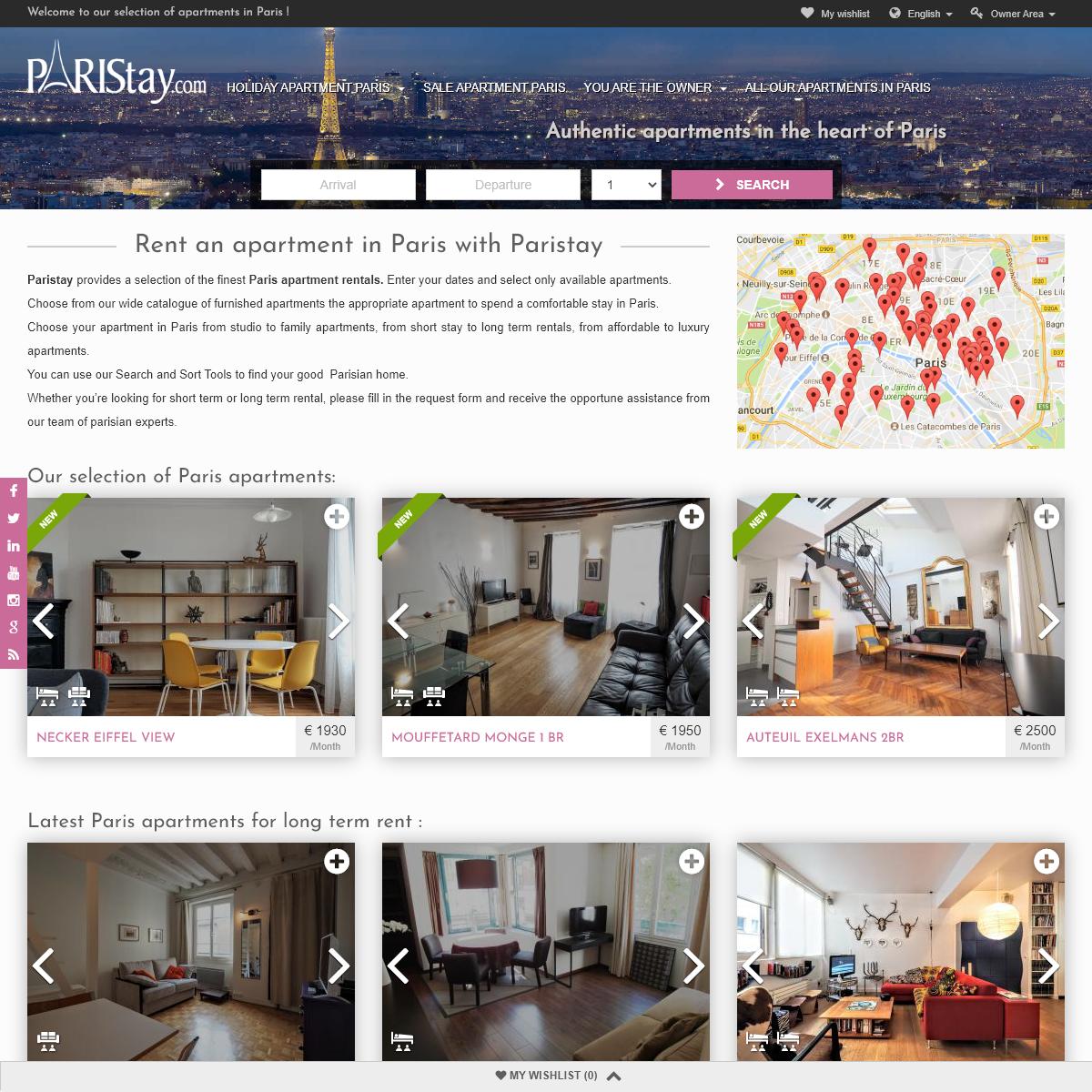 Paris apartments- apartments in Paris for short stay or long term rentals. Paris apartment for rent