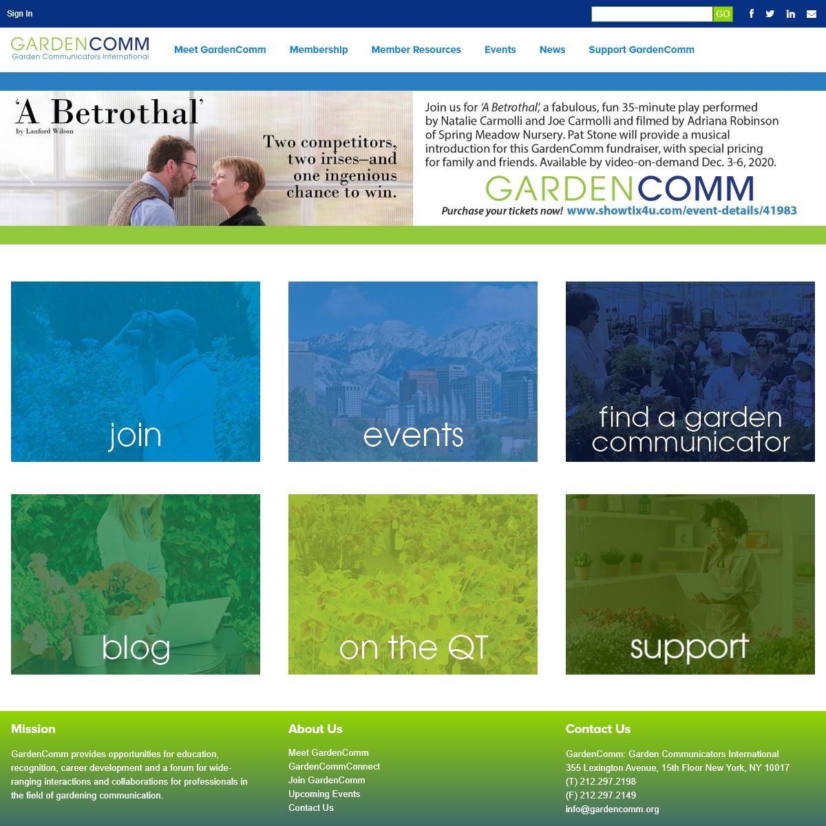 GardenComm - Garden Communicators International - New York, NY