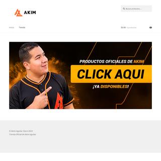 Akim Aguilar Store – Tienda Oficial de Akim Aguilar