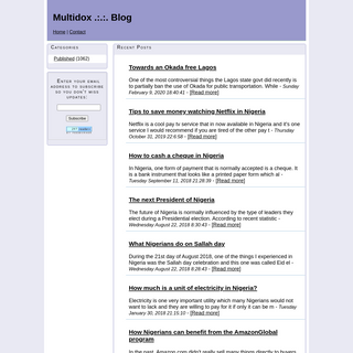 Multidox .-.-. Blog