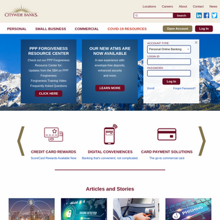 Citywide Banks Homepage - Citywide Banks