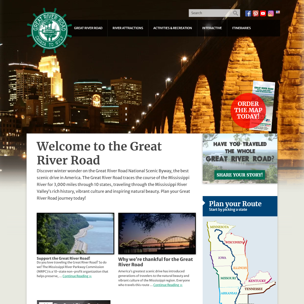 Welcome to the Great River Road - Experience Mississippi River