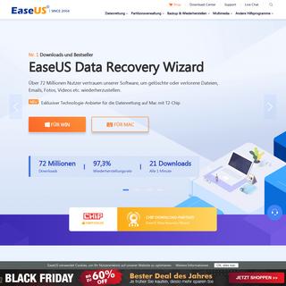 EaseUS® - Daten wiederherstellen, Daten sichern, Partition verwalten & PC Hilfssoftware