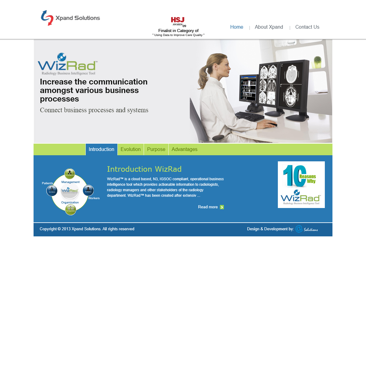 Xpand Solutions - WizRad Radiology Operational Business Intelligence