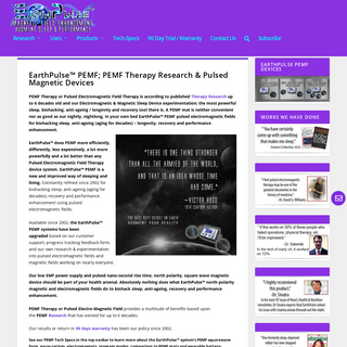 EarthPulse PEMF - PEMF therapy & Pulsed electromagnetic field research