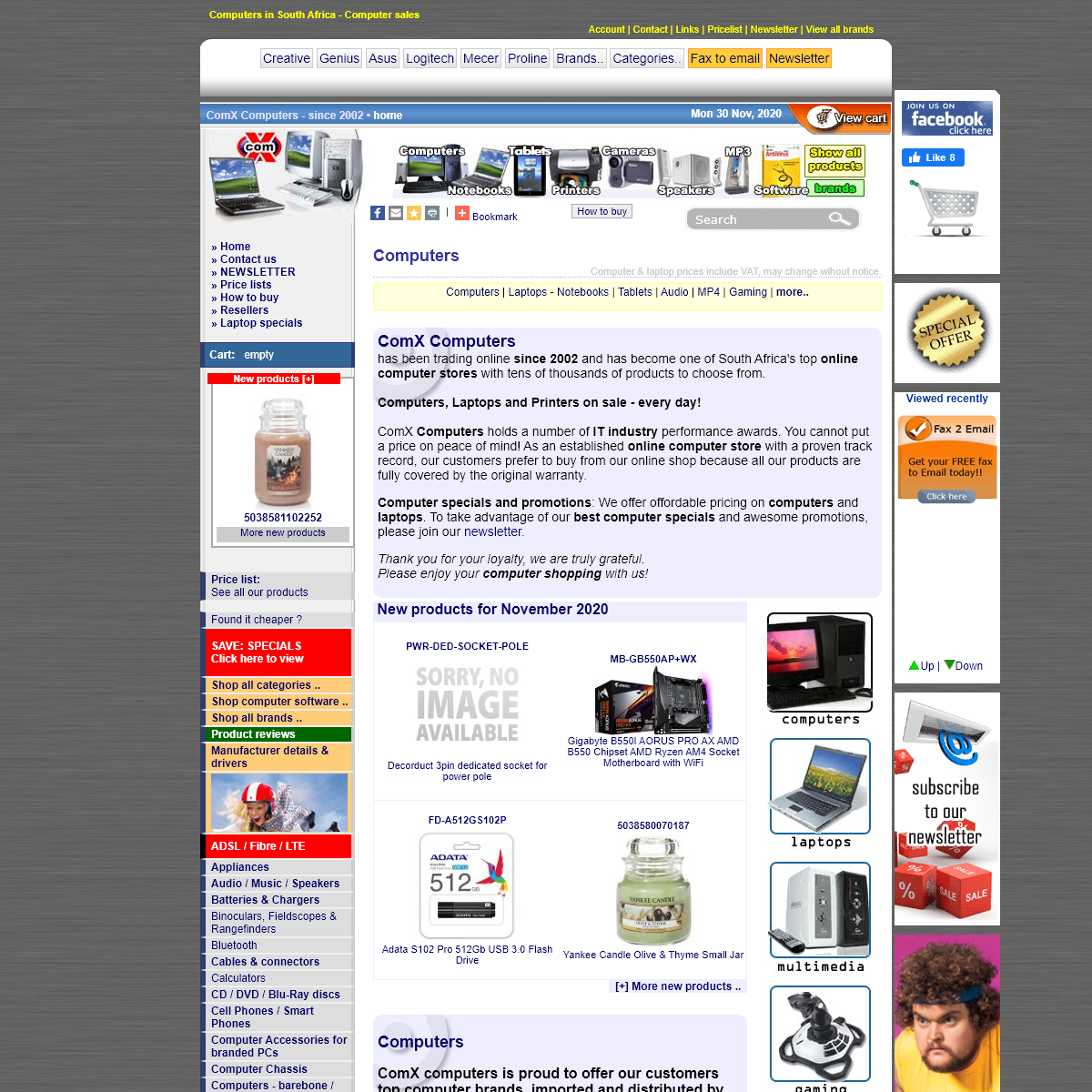 Computers! Online computer shop & notebook sales South Africa - Computers, laptops, notebooks and software sales. Computer sales