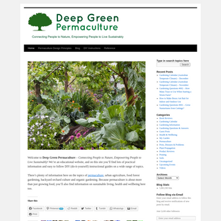 Deep Green Permaculture - Connecting People to Nature, Empowering People to Live Sustainably