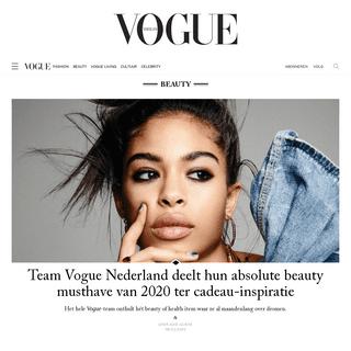 Vogue Nederland- Fashion, Beauty, Celebrity, Cultuur en Fashion Shows.