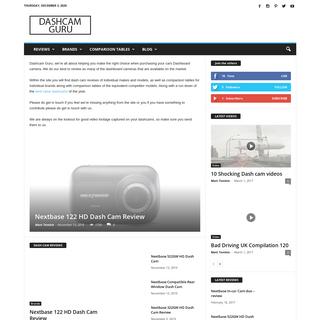DASHCAM GURU - the best place for dashboard camera reviews