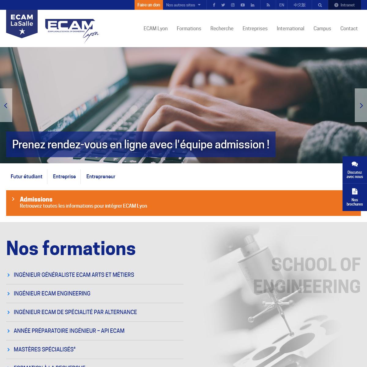ECAM Lyon - École d`ingénieurs depuis 1900