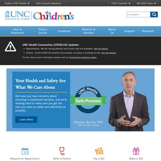 UNC Children`s Hospital - UNC Health Care - Chapel Hill, NC