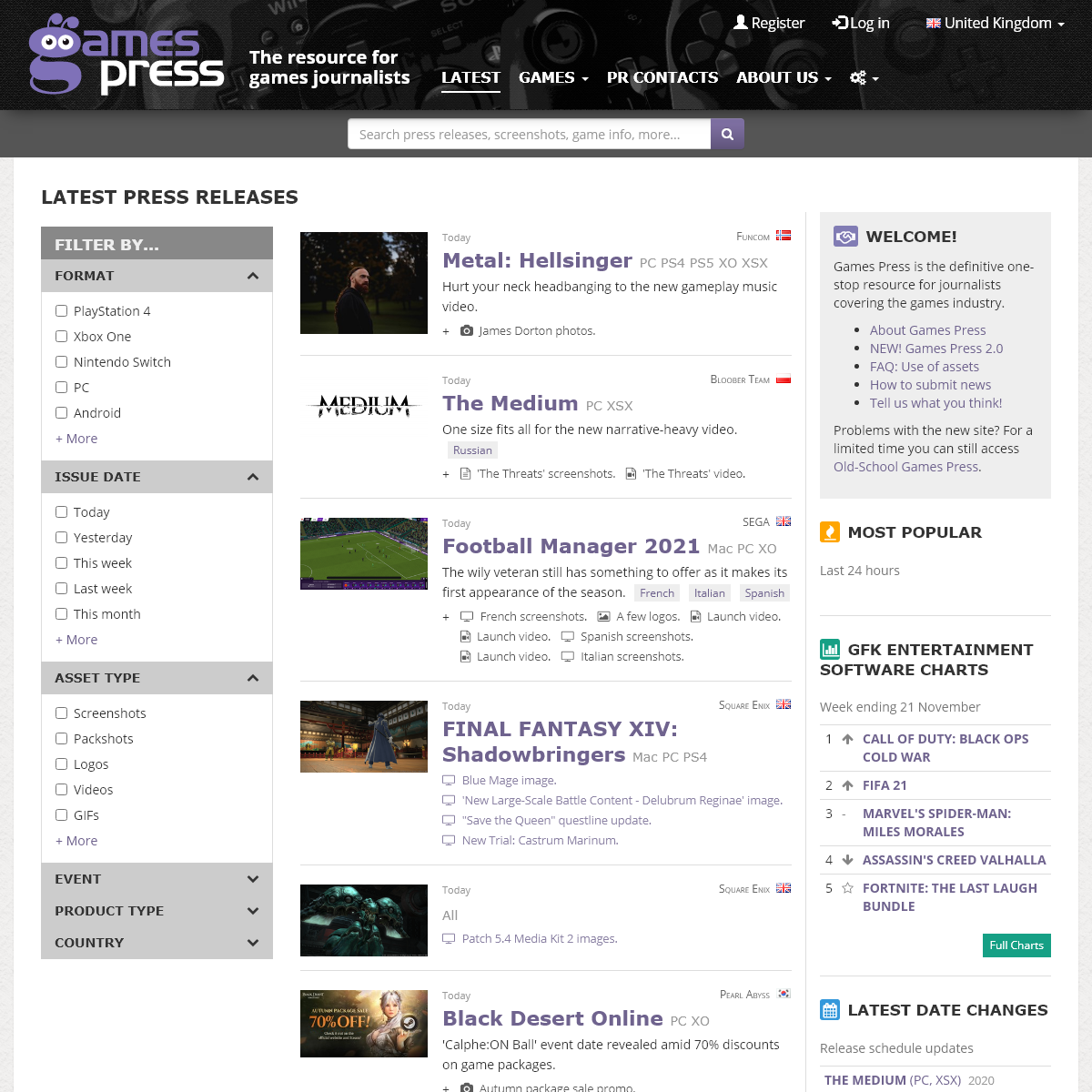 Games Press- The resource for games journalists