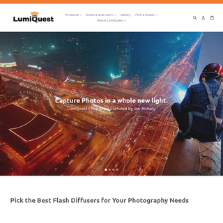 LumiQuest - Flash Diffusers and Soft Boxes for Speedlights and Strobes