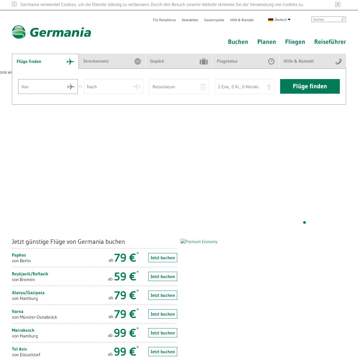 Germania - Germania - Günstige Flüge ab 49 € buchen