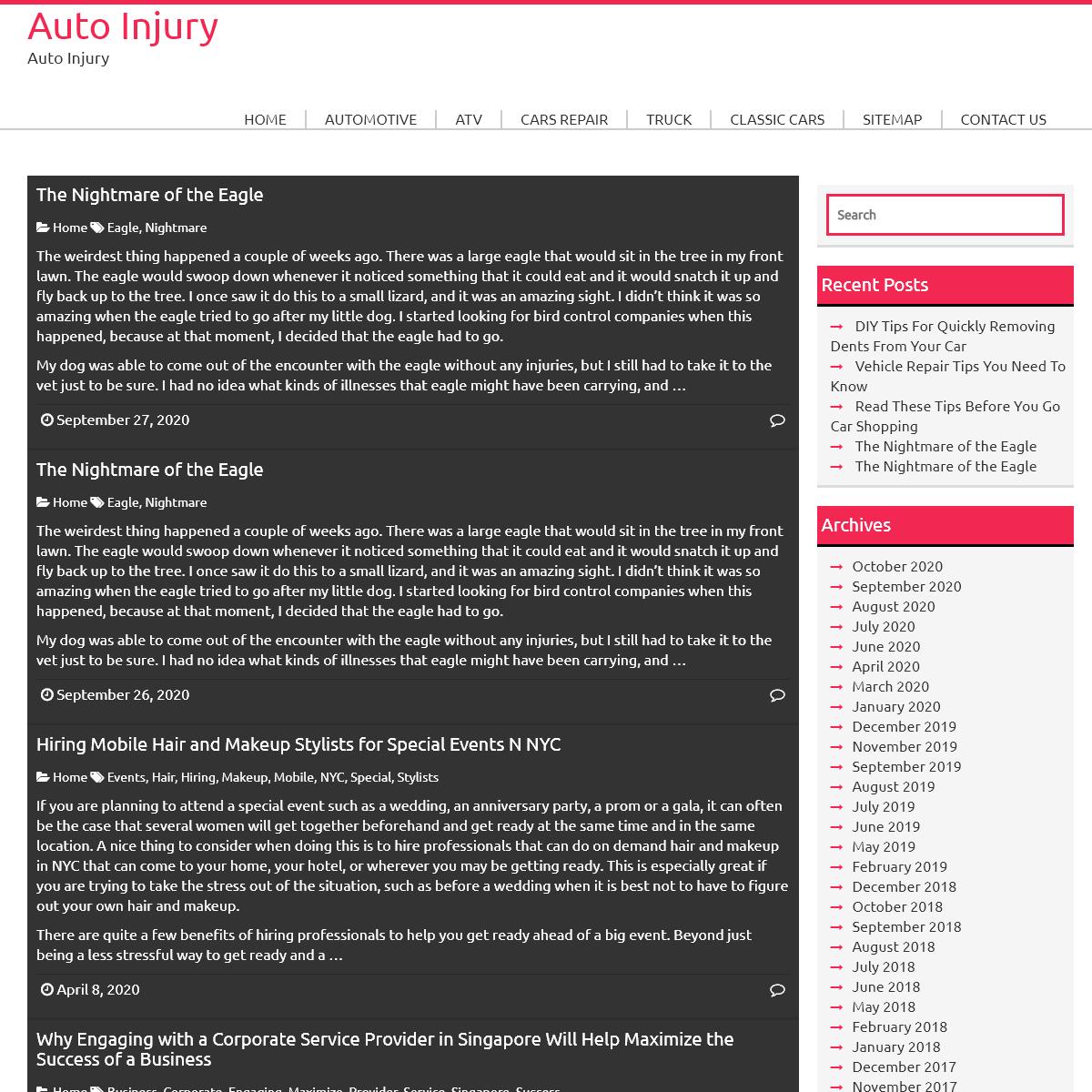 Auto Injury - Auto Injury