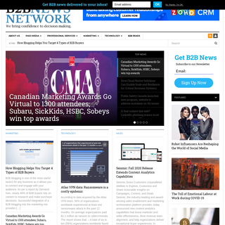 B2B News Network - Data, commentary, insights & research for B2B professionals & entrepreneurs