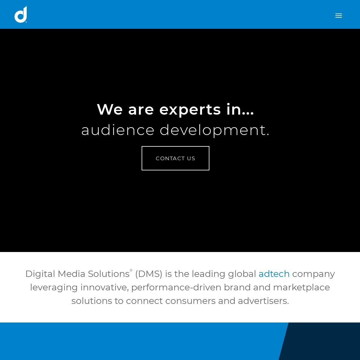 Digital Media Solutions (DMS) - Digital Performance Advertising