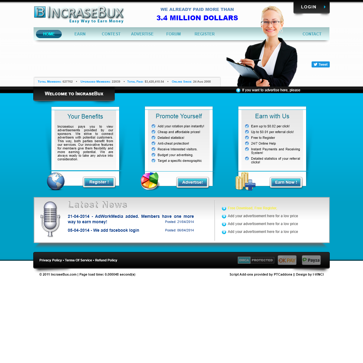 IncraseBux - Homepage