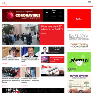 Hora Cero Web — Periódico digital lider en información y noticias de hoy- política, cultura, espectáculos y más; en el no