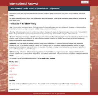 International Answer