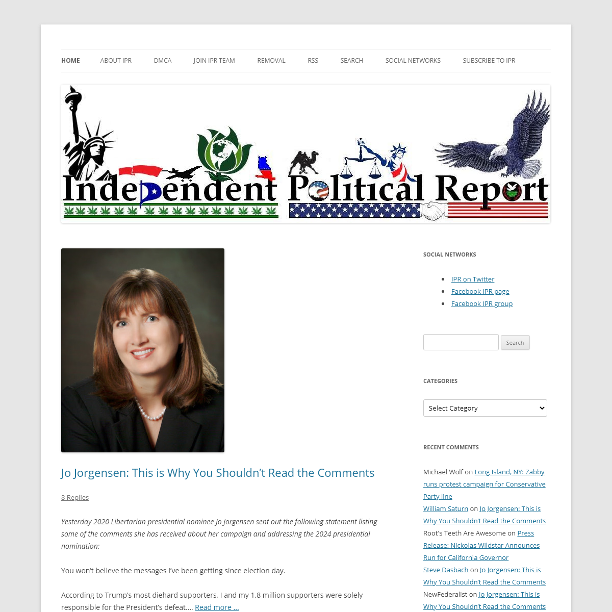 Independent Political Report - Covering third parties and independent candidates since 2008