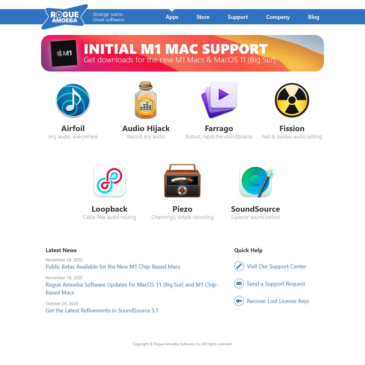 Rogue Amoeba - Quality Audio Software for MacOS
