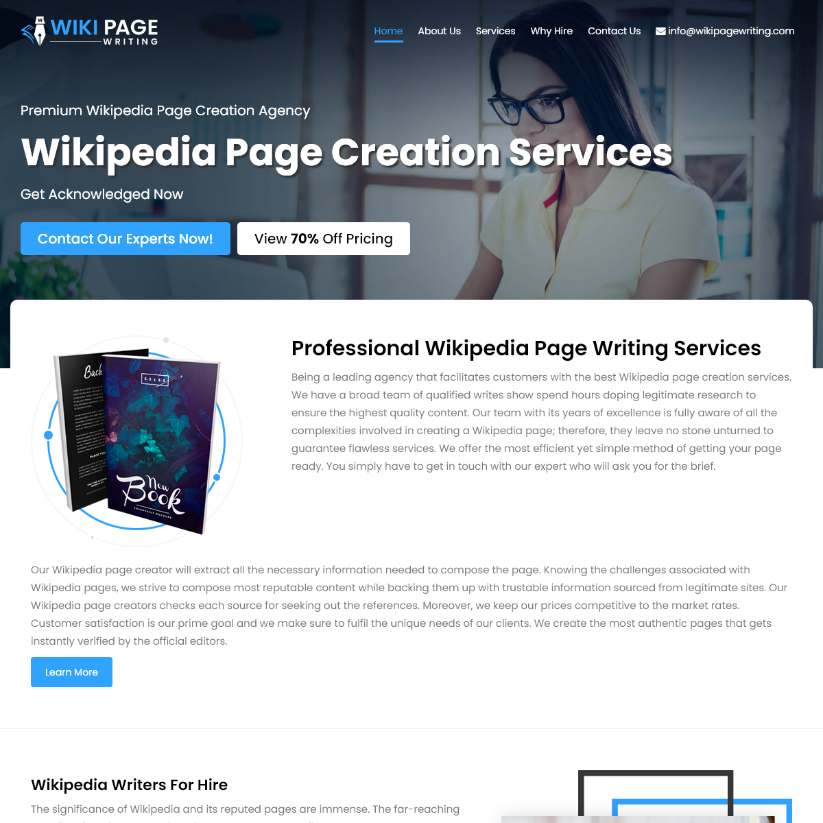 Wikipedia Page Writing & Creation Services - Professional Wikipedia Consultant for Page Editing Services by Best Wiki Page Creat