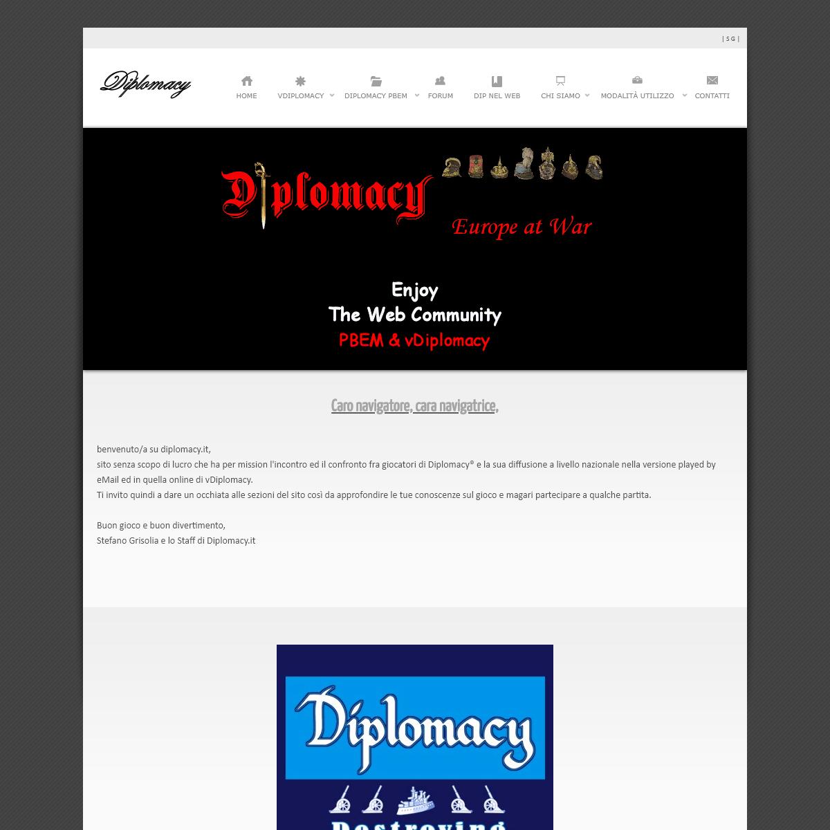 .-- Diplomacy --. - Partite online e PBEM in ITALIANO del Diplomacy Classico e delle sue Varianti