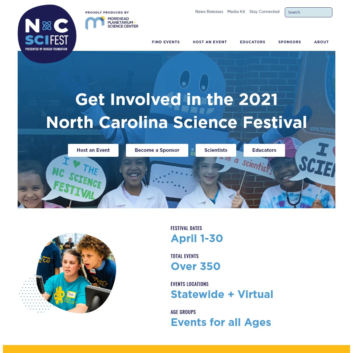 North Carolina Science Festival - Science for All