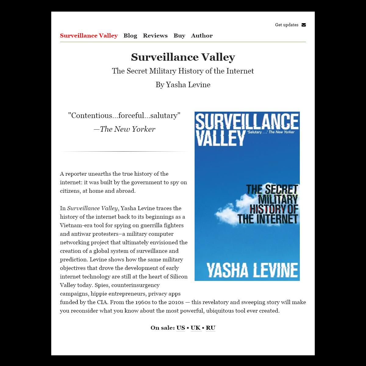 Surveillance Valley - Surveillance Valley — Yasha Levine