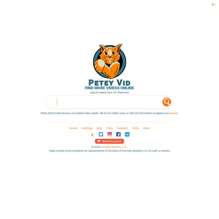 Petey Vid - Video Search Engine