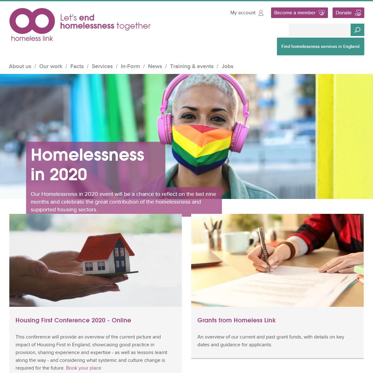 Homeless Link - Let`s end homelessness together