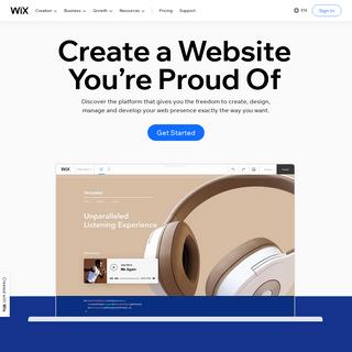 Free Website Builder - Create a Free Website - Wix.com