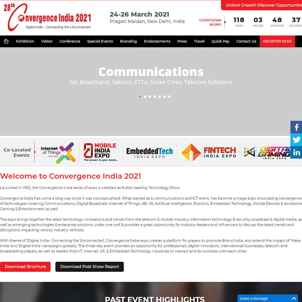 28th Convergence India 2021 - International Exhibitions, Expo and Conference in India 2021