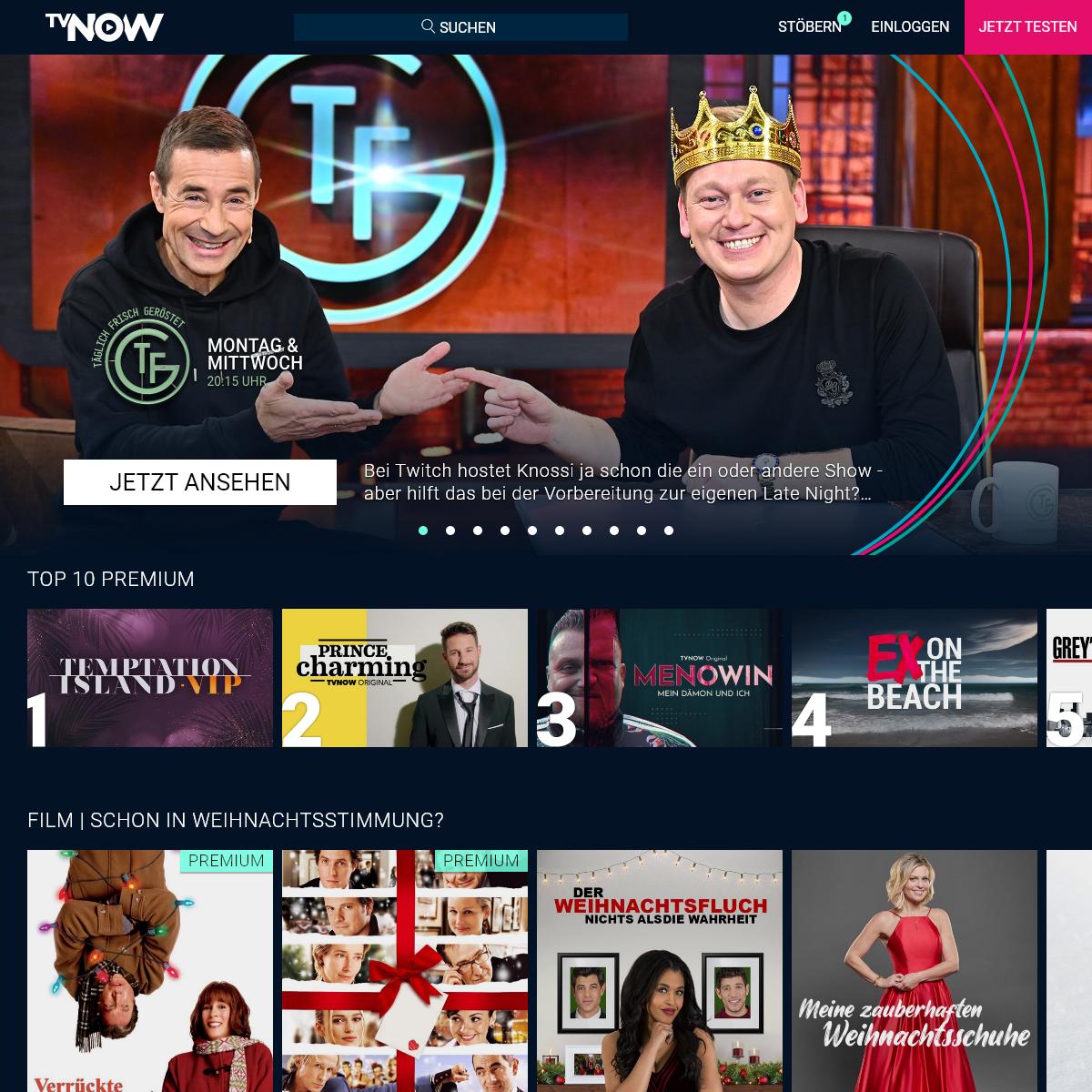 TVNOW – Der Streaming-Dienst für Serien, Shows & Filme