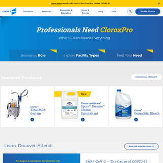 CloroxPro - Cleaning Supplies for Business, Hospitals & Schools