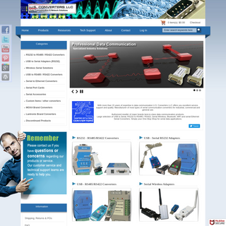 Serial Data Communication by U.S. Converters LLC