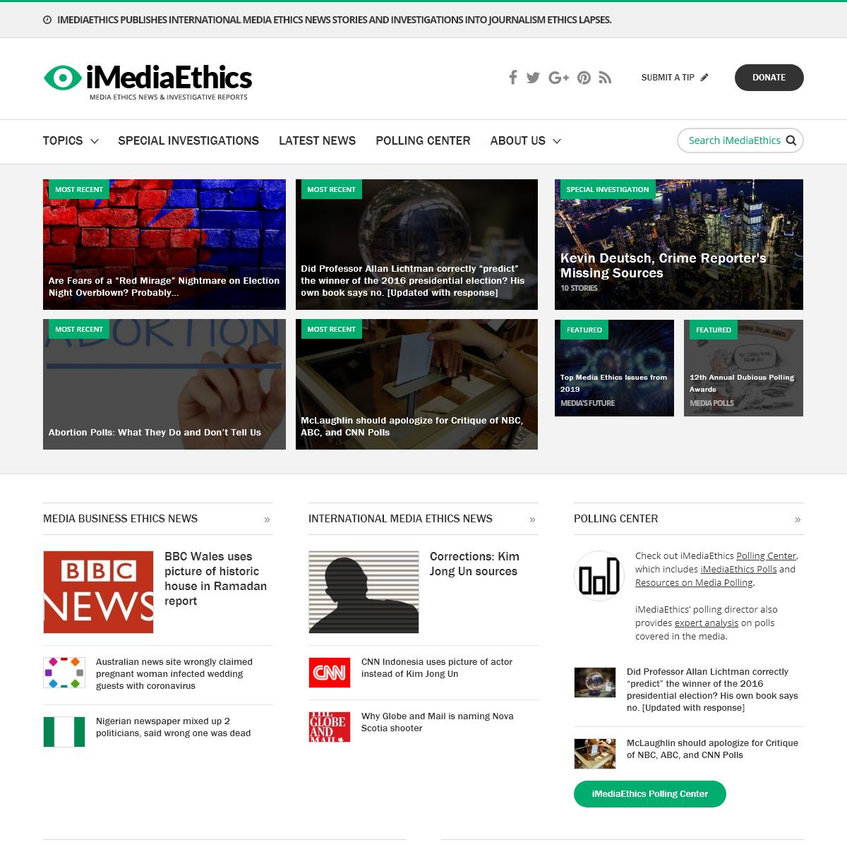 iMediaEthics - Media Ethics News, Plagiarism, Libel & Fake News