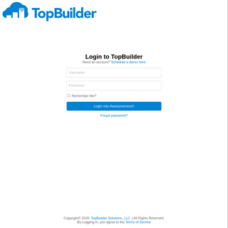 TopBuilder Solutions- Login
