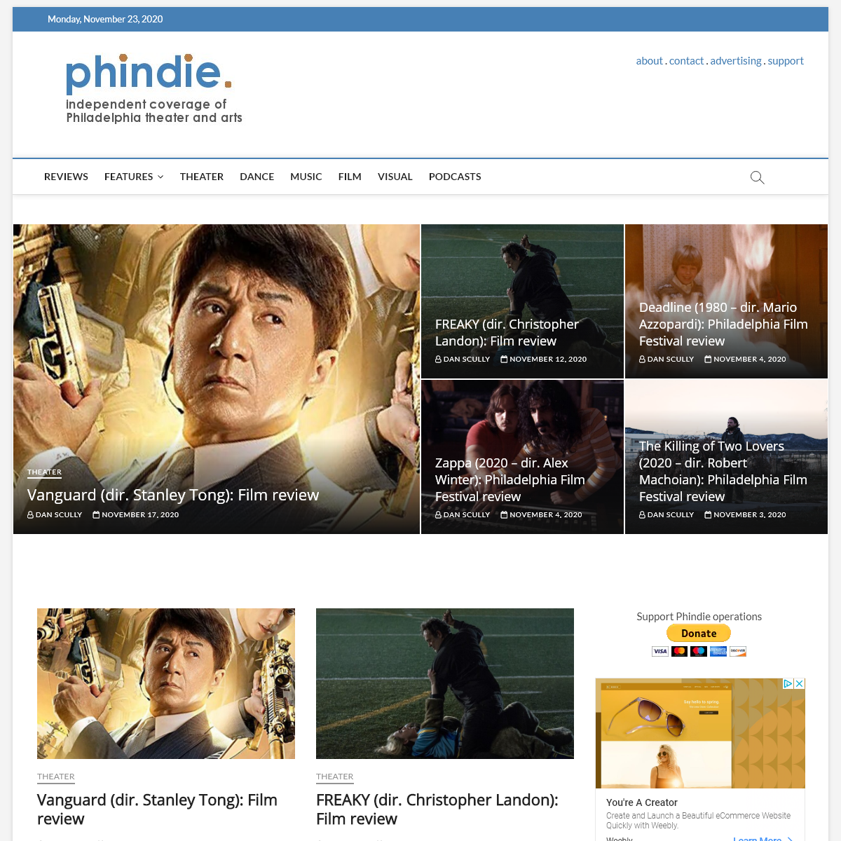 phindie - An independent take on Philadelphia theater and arts