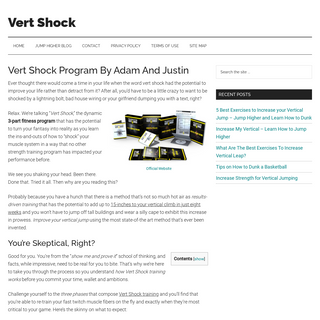 Vert Shock Review 2020 - Warning !! Don`t Buy Vert Shock by Adam Folker