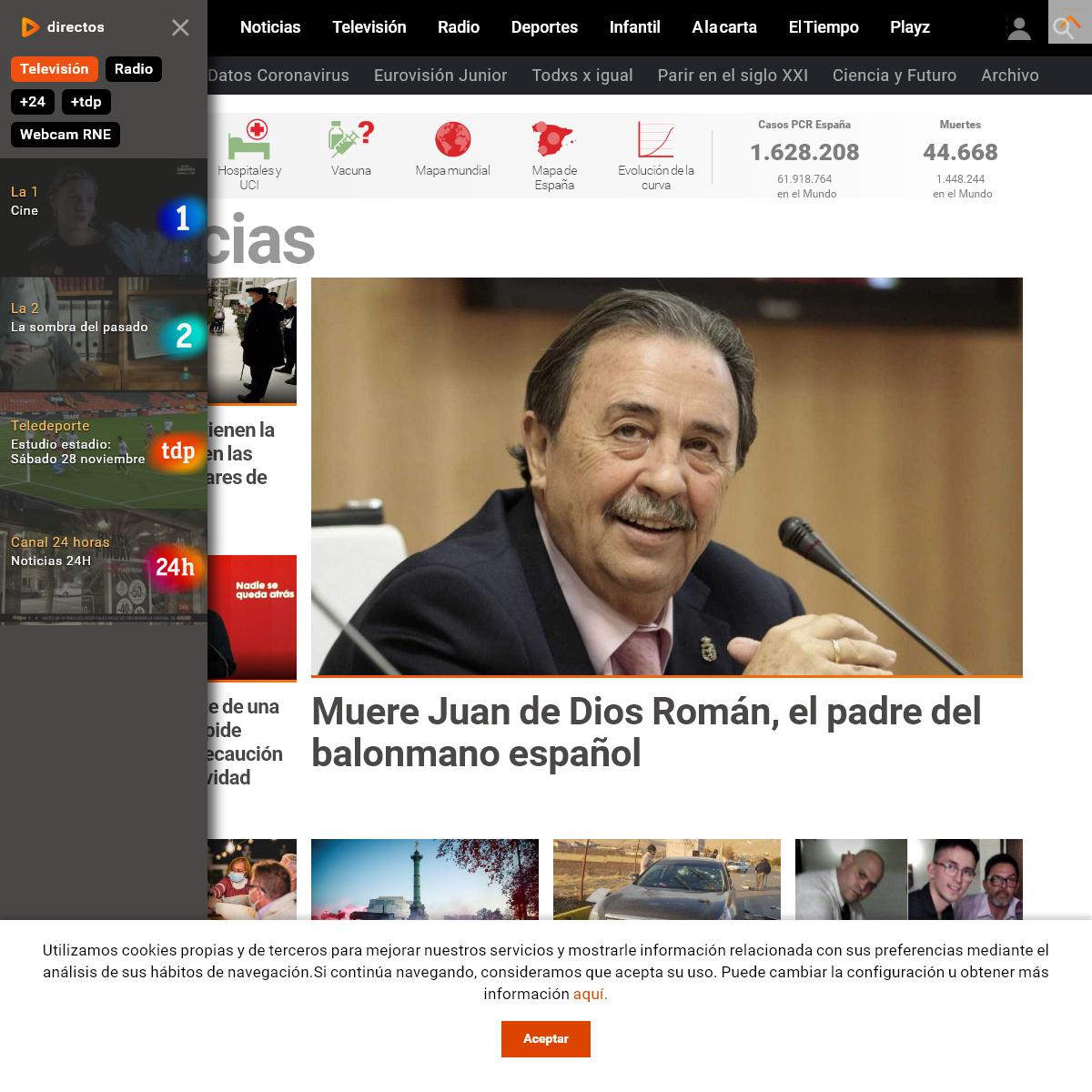 Noticias de última hora, programas y series de televisión - RTVE.es