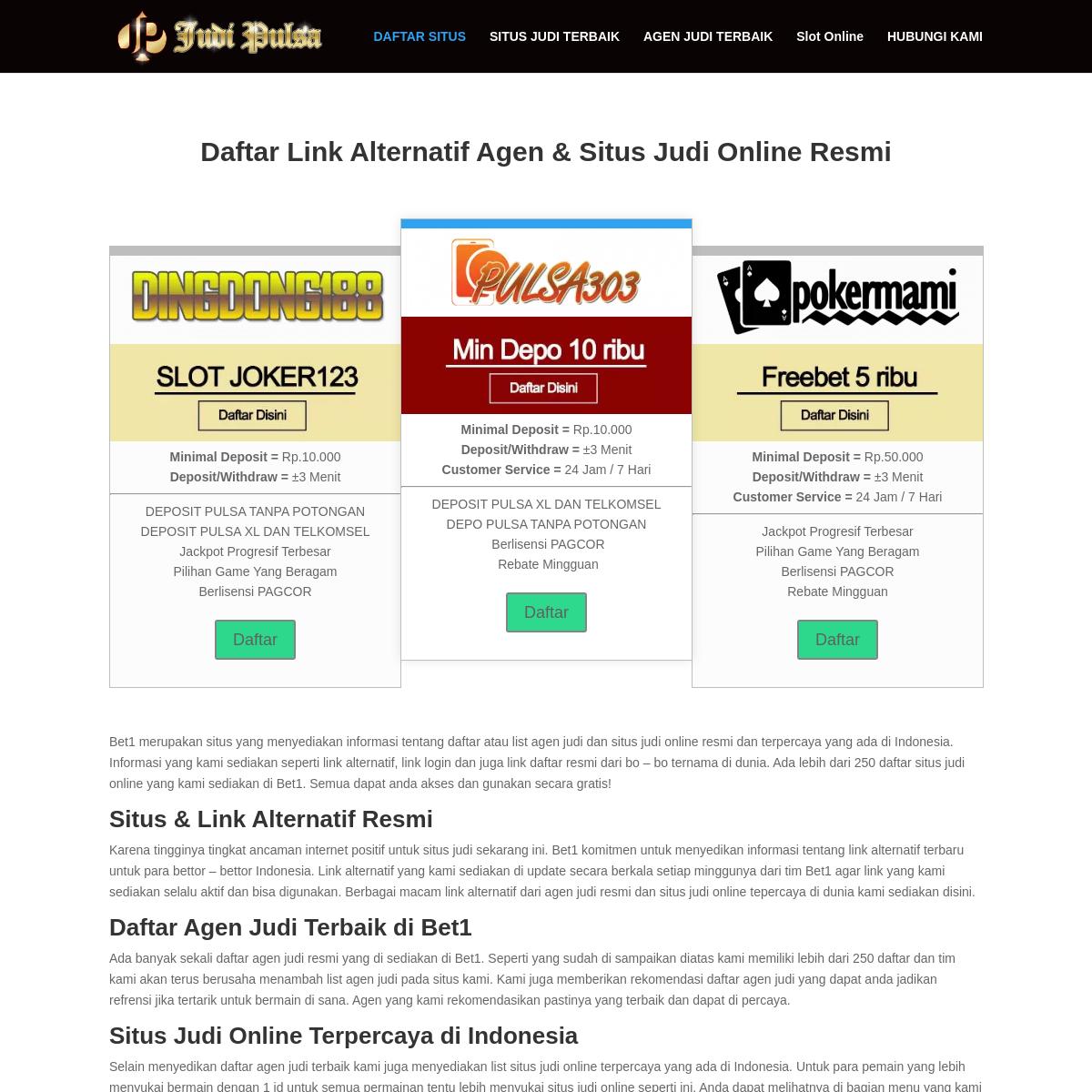 Daftar Situs Judi Online Di Indonesia Judi Slot Deposit Pulsa