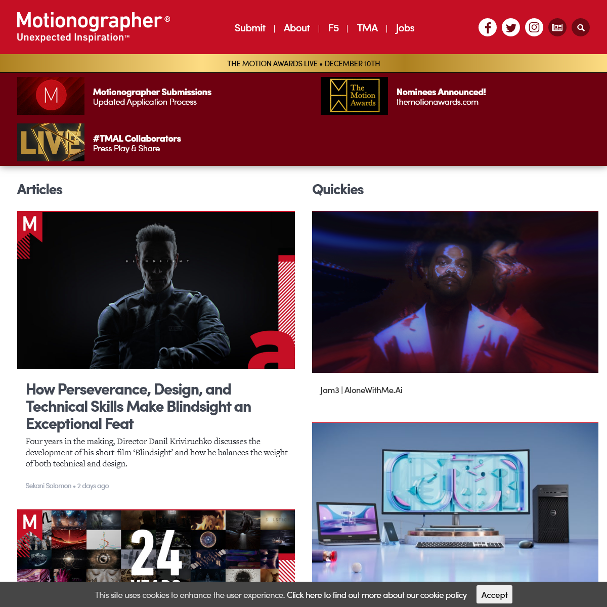Motionographer Sharing the best in moving media