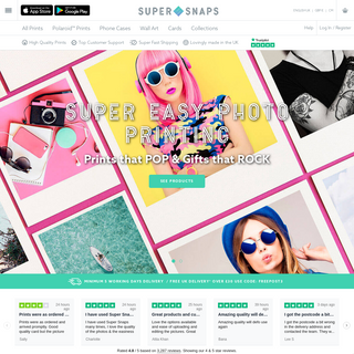 Super Snaps - Super Easy Online Photo Printing